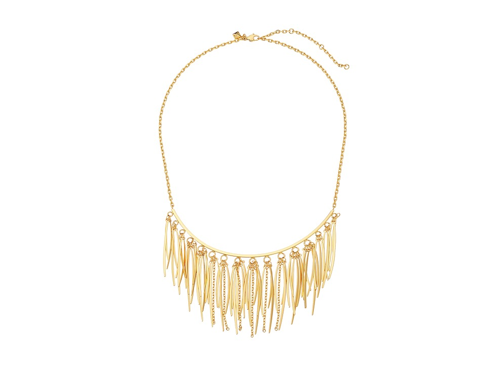 Rebecca Minkoff Needle Statement Collar Necklace Gold Necklace