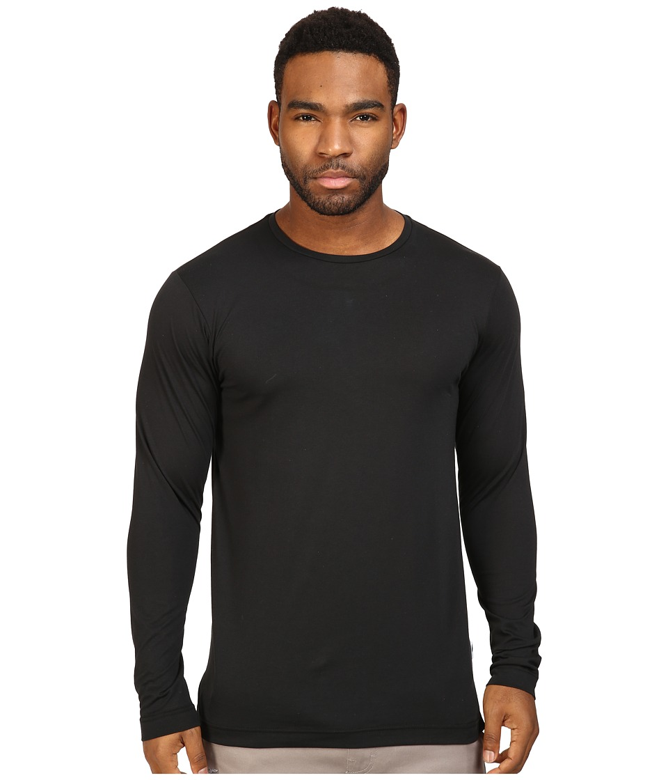 Publish - Premium Jersey Knit Long Sleeve Tee (Black) Mens T Shirt