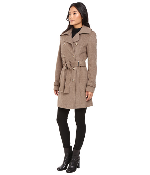 Calvin Klein Double-Breasted Belted Wool Coat - Zappos.com Free ...