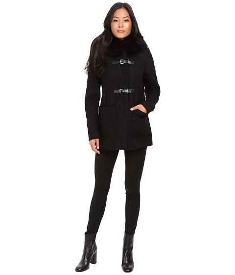 Calvin Klein Fur Trimmed Toggle w/ Oversized Pockets