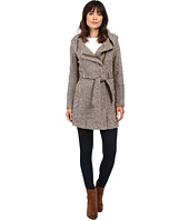 Calvin Klein - Tweed Belted Wool with Oversize Hood Collar