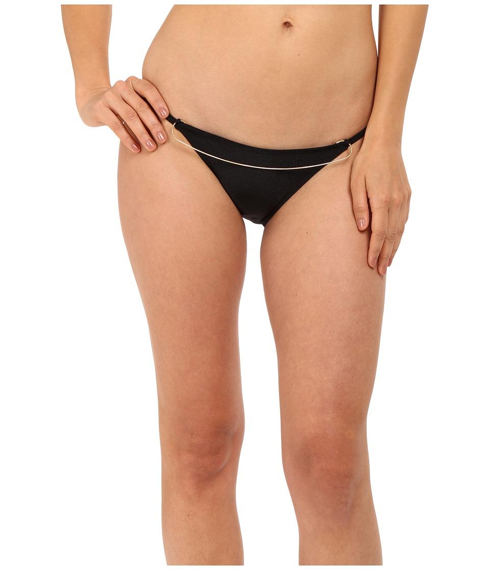 Image of Agua De Coco by Liana Thomaz - Scoop Chain Bottom (Black) Women's Swimwear