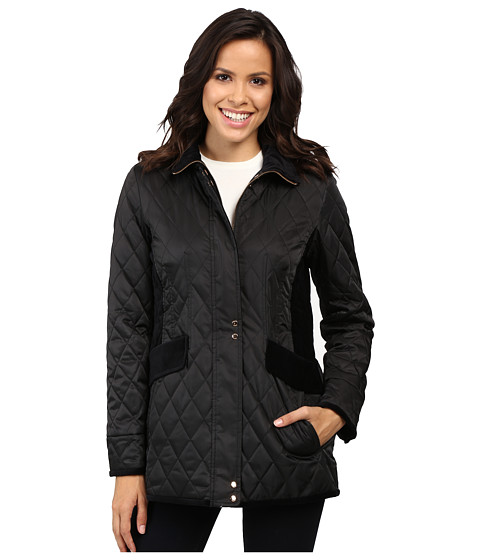 Vince Camuto Quilted Jacket with Velvet Trim L8181