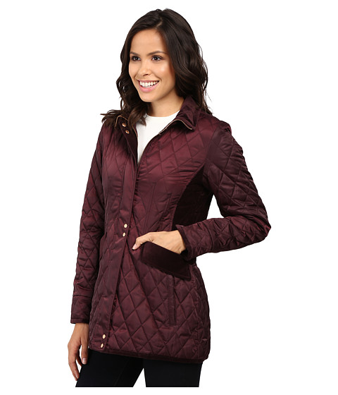 Vince Camuto Quilted Jacket With Velvet Trim L8181 At 6pm Com