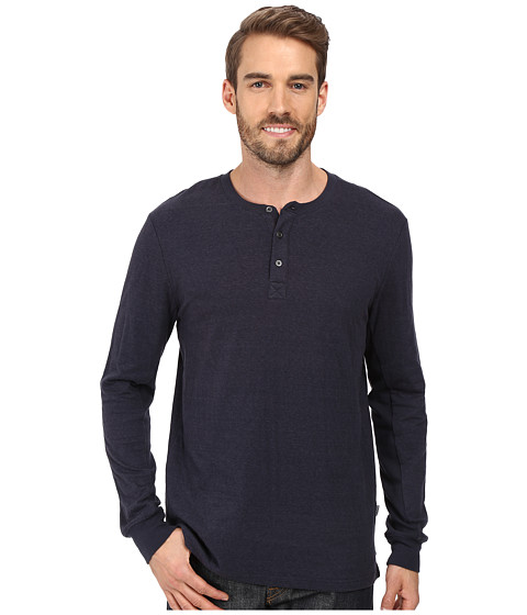 Threads 4 Thought Double Face Long Sleeve Henley - Blue Nights