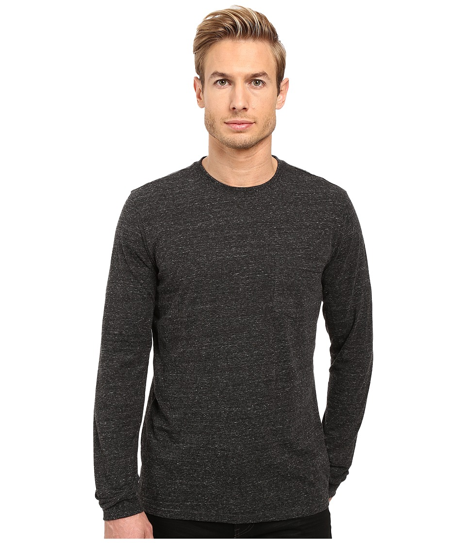 Threads 4 Thought - Tri-Blend Long Sleeve Pocket Tee (Heather Black) Mens T Shirt