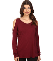 Michael Stars - Luxe Slub Long Sleeve Cold Shoulder Tee
