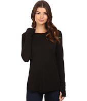 Michael Stars - Luxe Slub Long Sleeve Crew Neck w/ Thumbholes