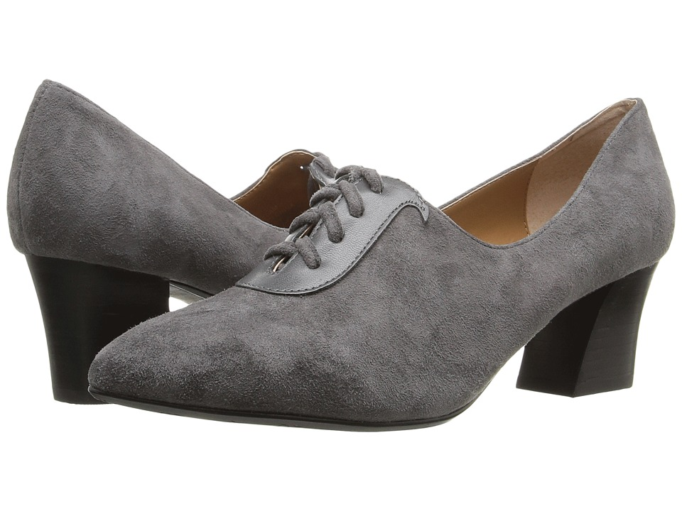 Retro Vintage Style Wide Shoes J. Renee - Ellam Dark Gray Womens Shoes $109.95 AT vintagedancer.com