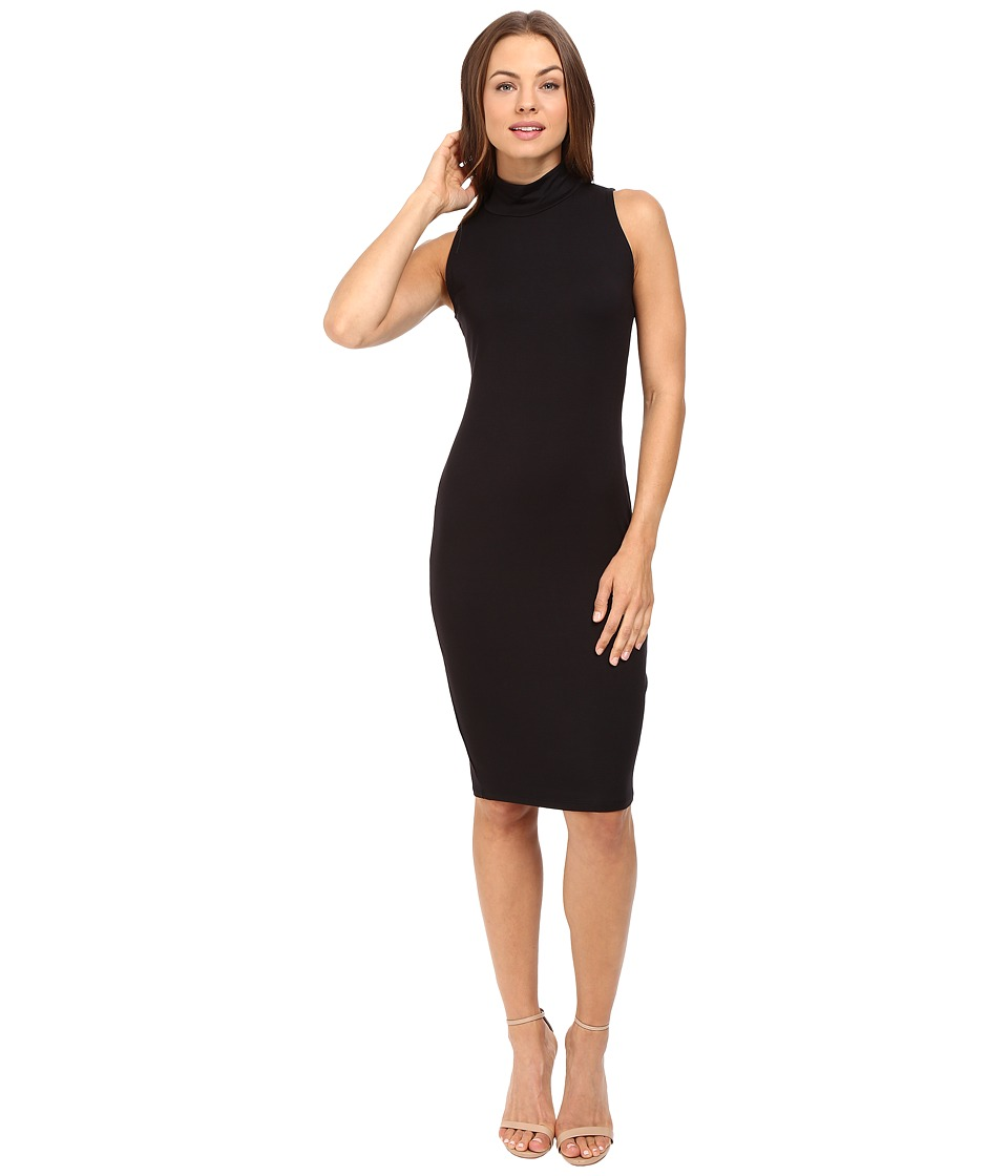 Michael Stars Sleeveless Mock Neck Midi Dress (Black) Women