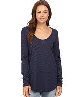 Michael Stars - Sapphire Jersey Stripe Long Sleeve U-Neck Tee