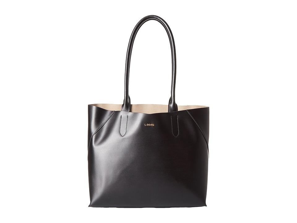 Lodis Accessories - Blair Cynthia Tote (Black/Taupe) Tote Handbags