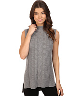 Michael Stars - Cotton Slub Sleeveless Mock Neck Cabled Tunic