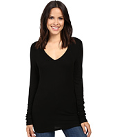 Michael Stars - 2x1 Rib Long Sleeve Vee Neck