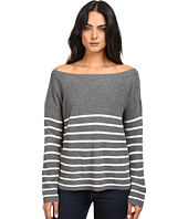 Michael Stars - Cashmere Blend Striped Boat Neck Pullover