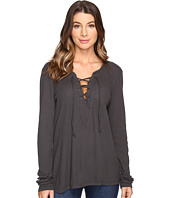 Michael Stars - Thermal Long Sleeve Lace-Up Top