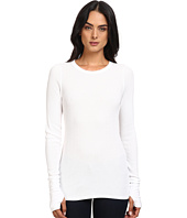 Michael Stars - Thermal Long Sleeve Raw Edge Crew w/ Thumbholes