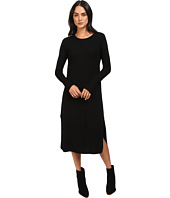 Michael Stars - Cashmere Blend Long Sleeve Midi Sweater Dress w/ Slits