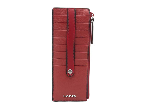 Lodis Accessories Kate Credit Card Case with Zipper Pocket - Red