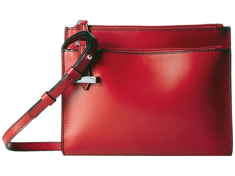 Lodis Accessories - Audrey Trisha Double Zip Wallet On A String (Red) Wallet Handbags