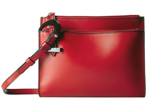 Lodis Accessories Audrey Trisha Double Zip Wallet On A String - Red
