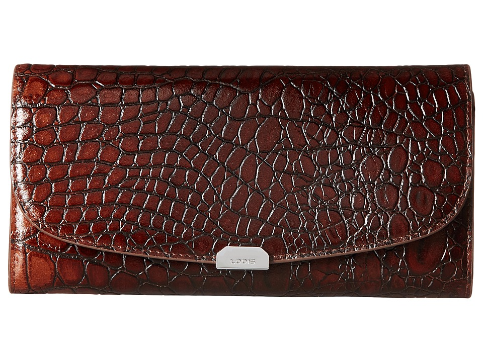 Lodis Accessories - Amy Taya Continental Wallet (Maple) Wallet Handbags