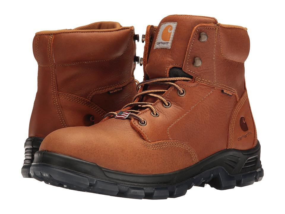 Carhartt 6 Waterproof Work Boot (Brown Oil Tanned Leather) Men