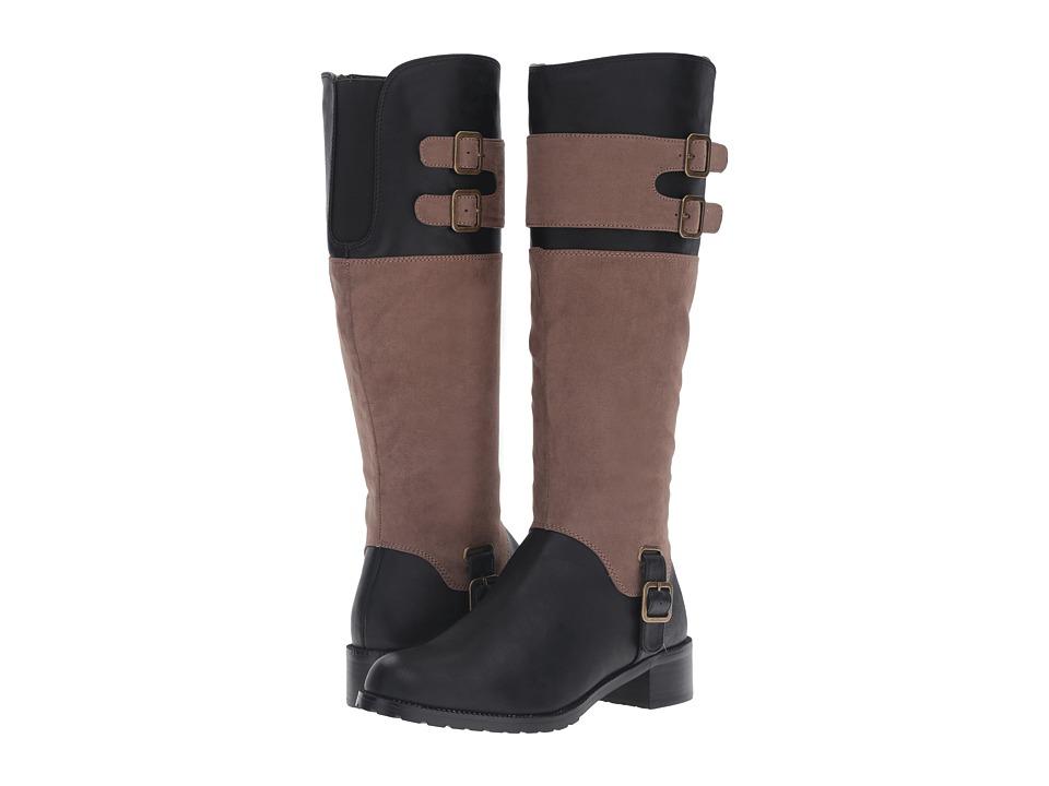 Image of Bella-Vita - Adriann II (Black/Taupe Super Suede) Women's Boots