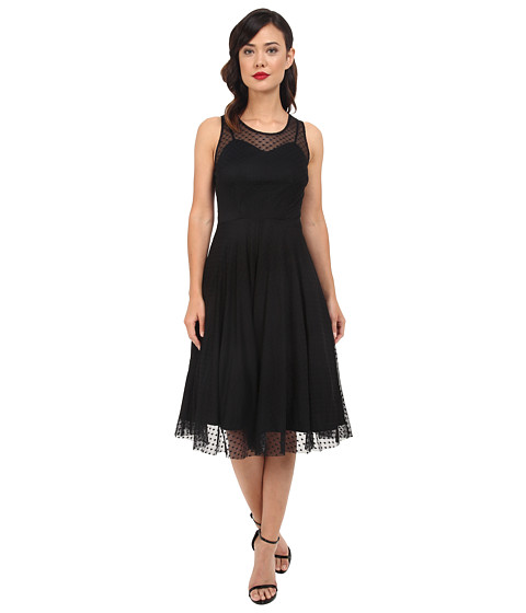Unique Vintage Mesh High Society Swing Dress