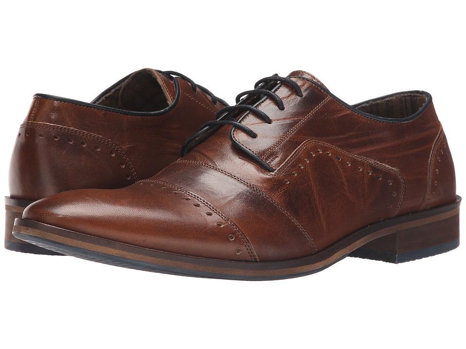 Dune London Boycy Tan Leather Mens Shoes