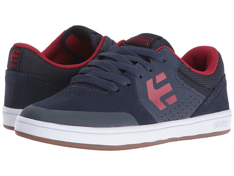 etnies Kids Marana (Toddler/Little Kid/Big Kid) - Blue/Red/White Suede/Synthetic