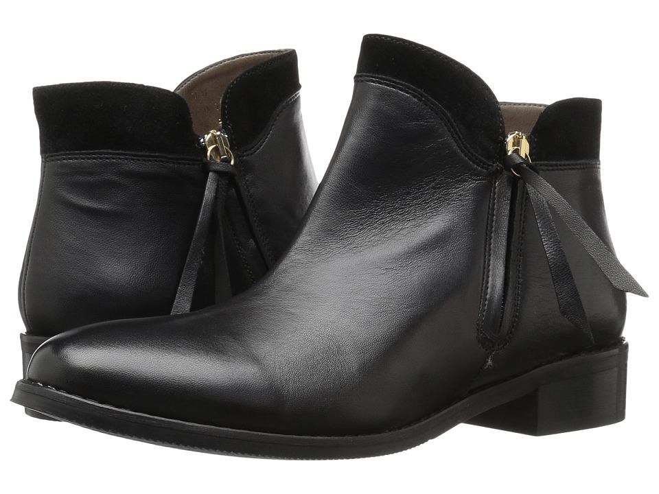 Bella-Vita Dot-Italy (Black Italian Leather/Suede) Women