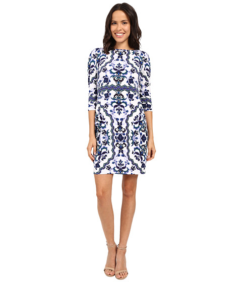 Vince Camuto Printed Crepe Long Sleeve Tee Body
