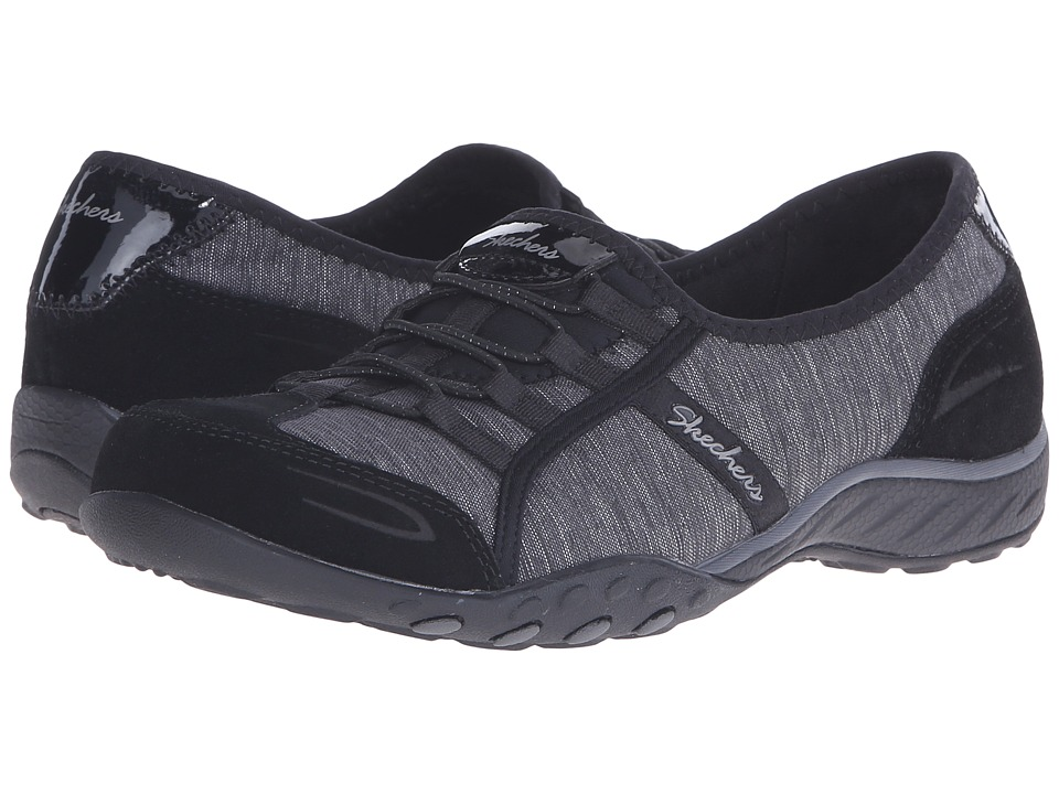 SKECHERS Active Breathe Easy Pretty Lady Black Womens Shoes