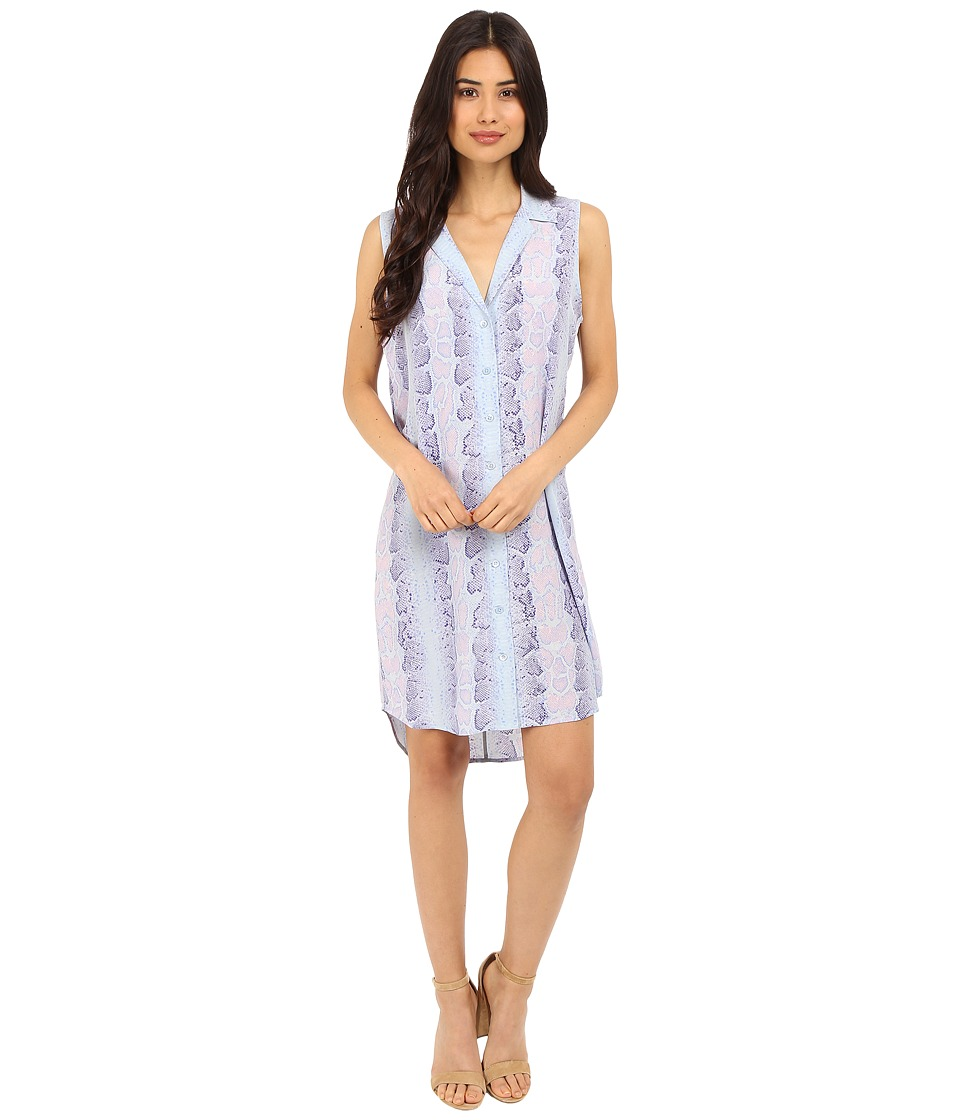 EQUIPMENT Sleeveless Adalyn Dress Periwinkle Multi Womens Dress