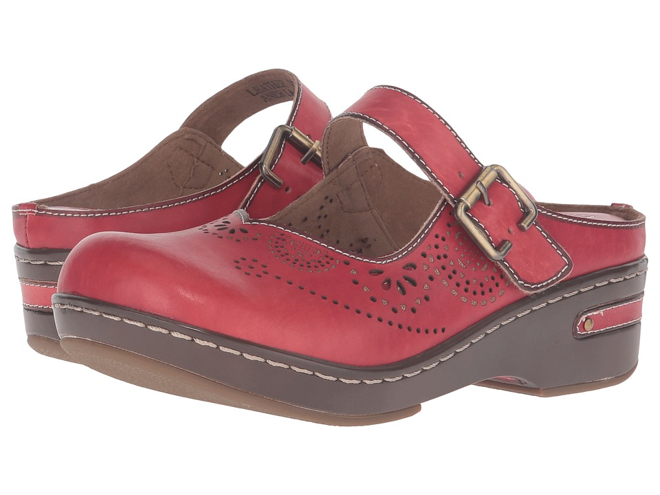 L'Artiste by Spring Step Aneria (Red) Women's Clog/Mule Shoes