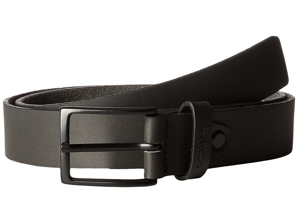 RVCA Bermuda Leather Belt (Black) Men