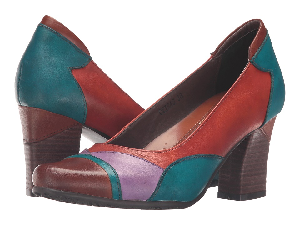 1960s Style Shoes Spring Step - Oeiras Camel High Heels $109.99 AT vintagedancer.com