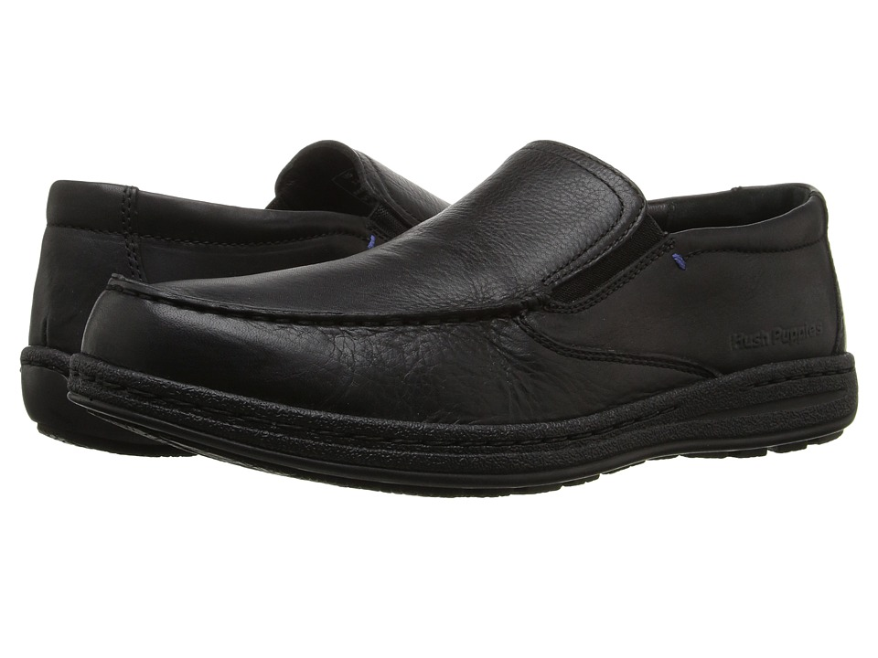 Hush Puppies Vicar Victory (Black Leather 1) Men