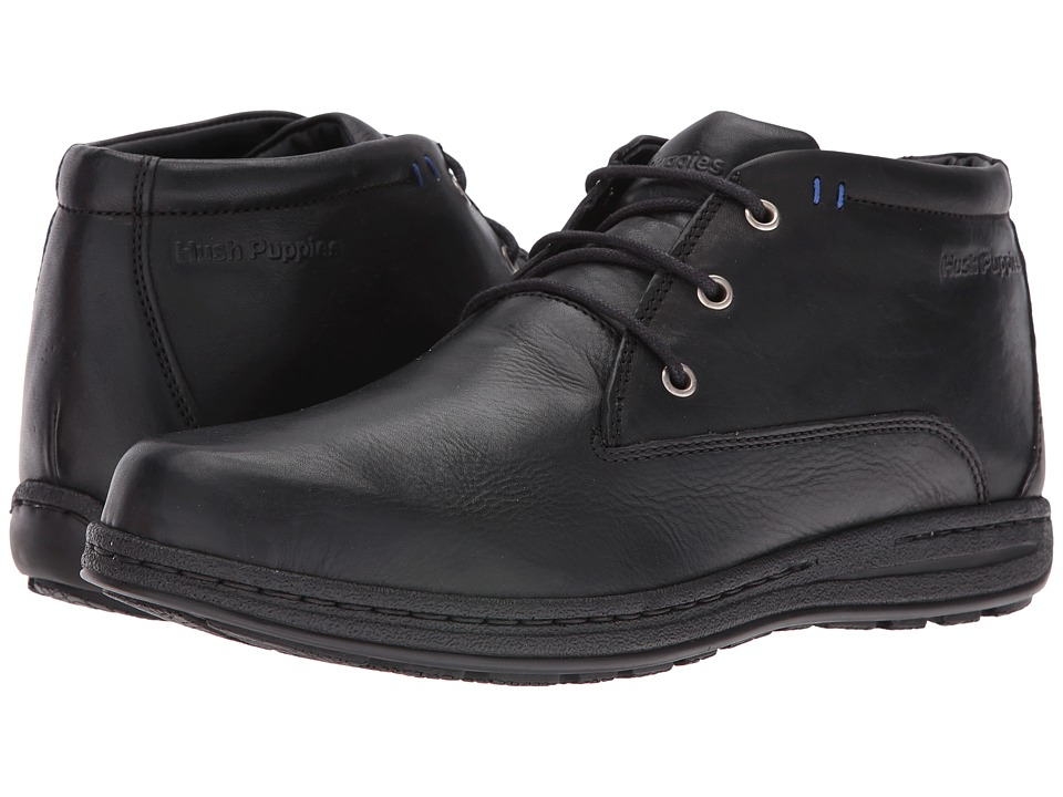 Hush Puppies Vice Victory (Black Leather 1) Men