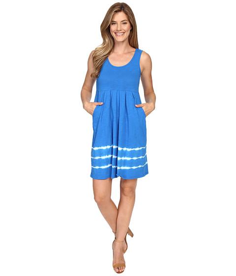 Mod-o-doc Slub Jersey Tie-Dye Stripe Tank Dress