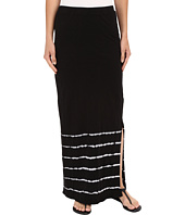 Mod-o-doc - Slub Jersey Tie-Dye Stripe Straight Skirt