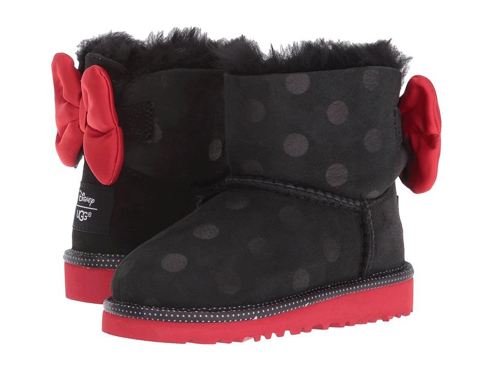 UGG Kids Sweetie Bow (Toddler/Little Kid) (Black) Girl