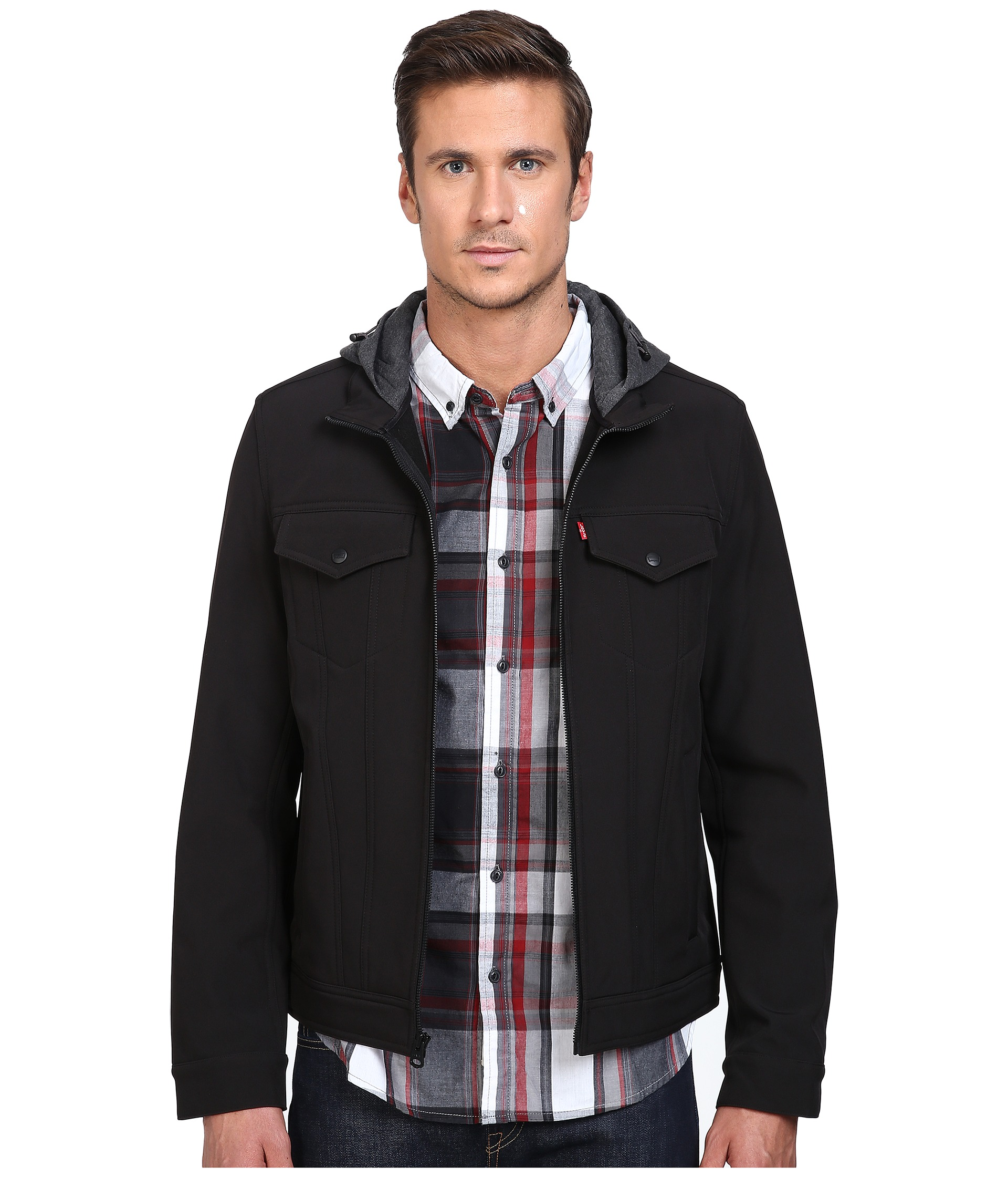 Levi S 174 Stand Collar Two Pocket Hoodie At Zappos Com