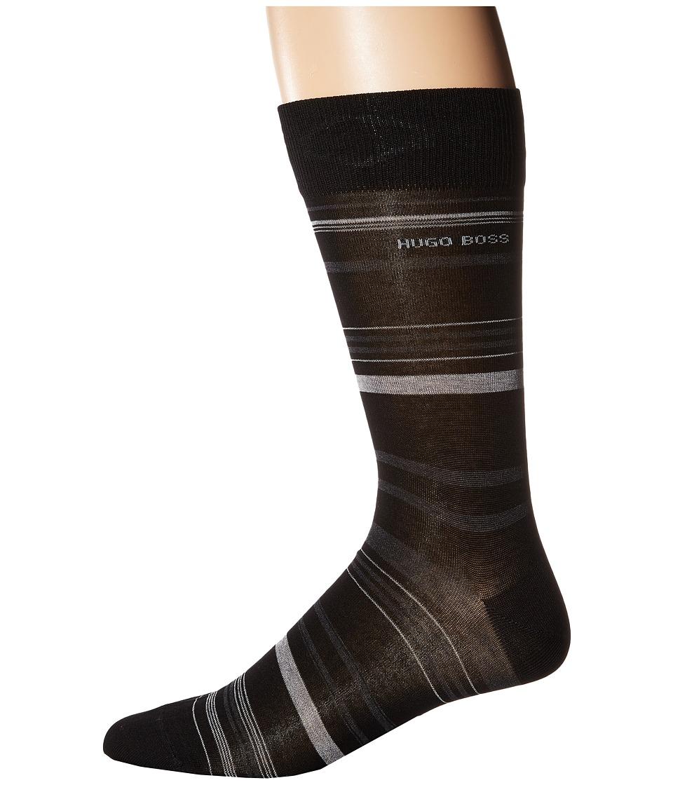 BOSS Hugo Boss - Mercerized Stripe (Black) Men