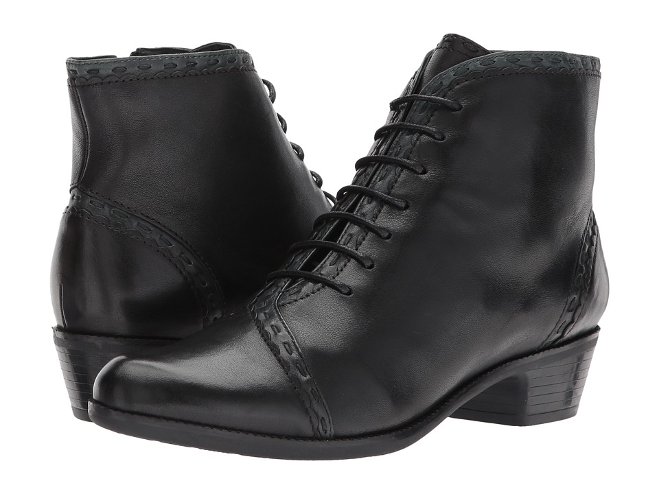 Ladies Victorian Boots & Shoes – Granny boots Spring Step - Jaru Black Womens Lace-up Boots $169.99 AT vintagedancer.com