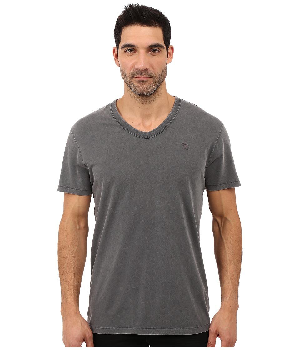 G-Star - Rugin Short Sleeve V-Neck Tee in Lyon Jersey (Night) Men