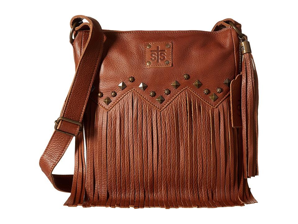 STS Ranchwear The Boho Crossbody Saddle Brown Cross Body Handbags