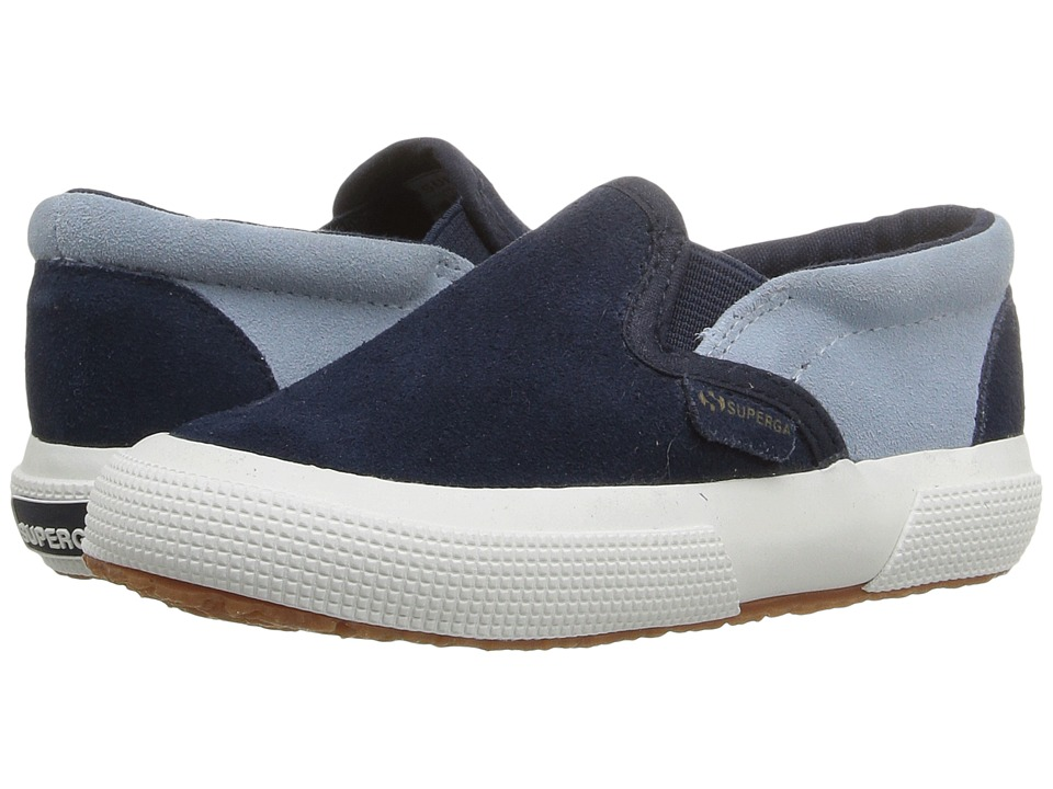 Superga Kids - 2317 SUEJ (Infant/Toddler/Little Kid/Big Kid) (Blue/Relax Blue) Kid