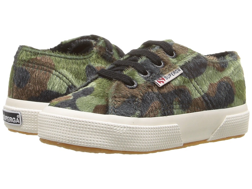 Superga Kids - 2750 Synthetic Horse Camo J (Infant/Toddler/Little Kid/Big Kid) (Green Multi) Kid